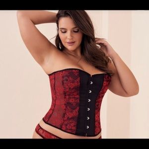 💋SALE💋 Red Body Tie-Up Corset with Black Accent